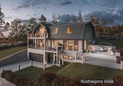 illustrasjons bilde av hus i Løykjelia 198